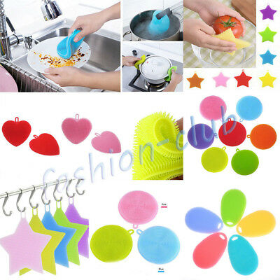 4Type Magic Health Silicone Scrubber Sponge Dish Stains Remover Cleaning Supply
