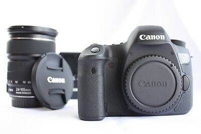 *NMint* Canon EOS 6D 20.2 MP Digital SLR Camera Black w/ EF IS STM 24-105mm *156
