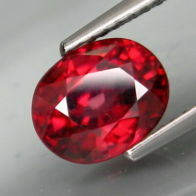 2.97Ct.Very Good Color! Natural Rich Pink Zircon Tanzania Full Fire&Eye Clean!