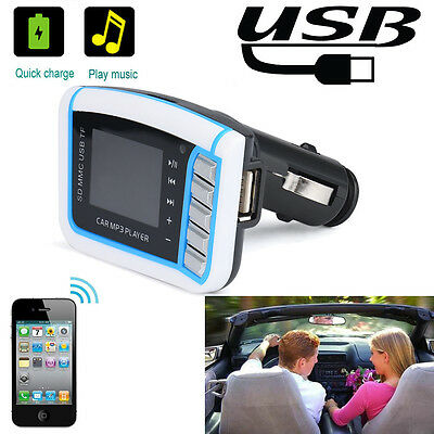 Car Kit MP3 Player FM Transmitter Wireless Radio Adapter USB Charger