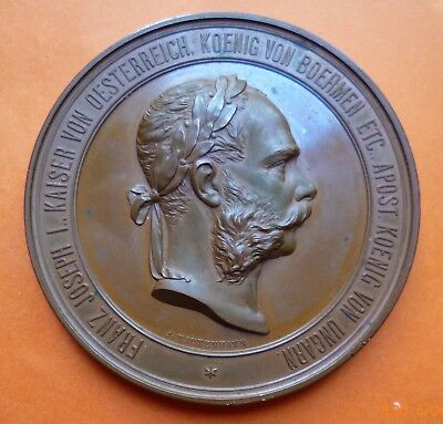 Kaiser Franz Joseph I of Austria 1873 Exhibition medal 70.5 mm dia