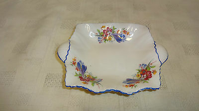 Shelley Bone China Small Handled Dish - Floral Decoration
