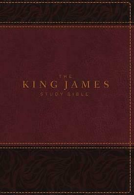 The King James Study Bible Imitation Leather Burgundy Full-Col by Thomas Nelson