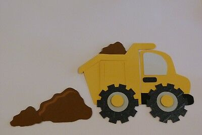 Dump Truck With Piles Of Dirt Fully Assembled Die Cuts