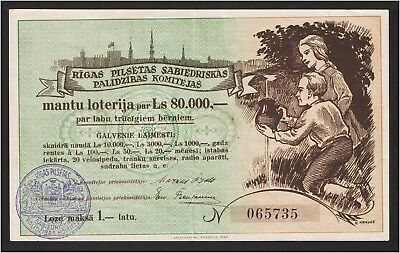 Latvia Committee of Public Assistance lottery 1936 Riga
