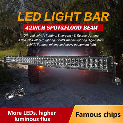 """42"""" 800W PHILIPS Spot&Flood LED Work Light BAR Offroad SUV 4WD 4X4 Driving Lamp"""