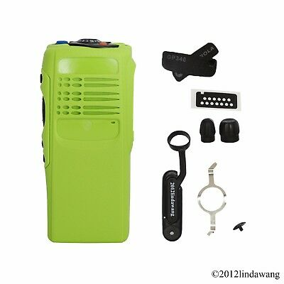 Green Housing Cover Case Repair Replacement Kit for Motorola GP340 Two Way Radio