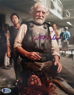 SCOTT WILSON THE WALKING DEAD 8x10 inch SIGNED PHOTO BECKETT BAS COA