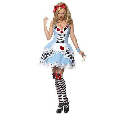 halloween kost m alice im wunderland harlekin clown damen kost m karneval 2017 eur 20 99. Black Bedroom Furniture Sets. Home Design Ideas