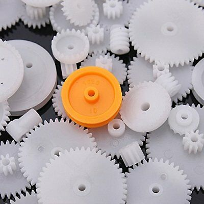75 Type Plastic Crown Gear Single Double Reduction Gear Worm Gear, Ideal for DIY