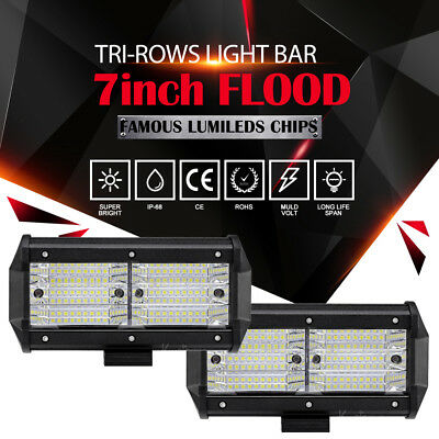 """CURVED 22"""" 480W CREE Spot&Flood LED Work Light Bar 4X4 4WD SUV DRL Red With Mask"""