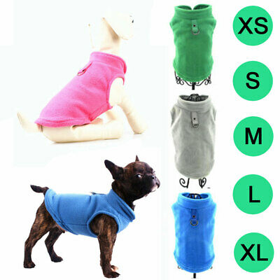 Pet Dog Fleece Harness Vest Jumper Sweater Coat for Dogs Clothes Puppy Jacket