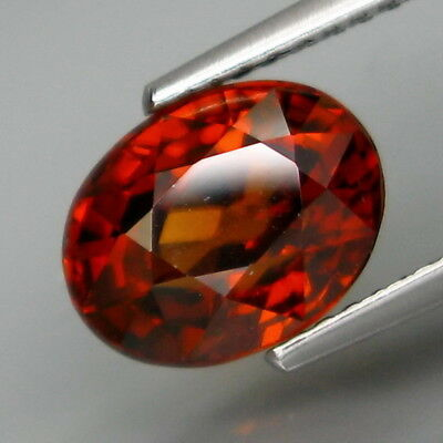 3.82Ct.Very Good Color&Full Fire! Natural Imperial Red Zircon Tanzania
