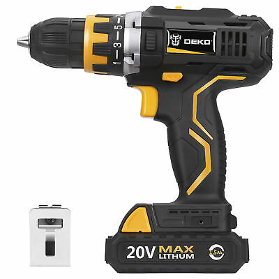 "DEKO 12V DC Lithium-Ion Battery 3/8"" Cordless Hammer Drill Electric Driver"