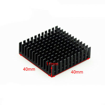Heat Sink Aluminum Cooling Fin HeatSink 40*40*11MM for Router CPU IC Black