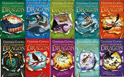 How to Train Your Dragon By Cressida Cowell 10 Books Collection Set NEW