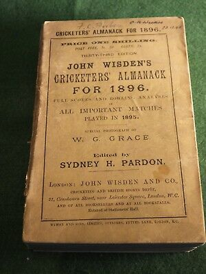 John Wisden's Cricketers' Almanack for 1896
