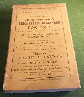 John Wisden's Cricketers' Almanack for 1898