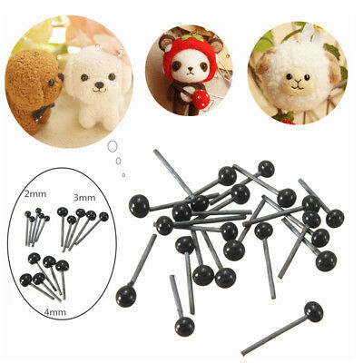 150Pairs Plastic 2/3/4mm Eyes For Needle Felting Sewing Bear Craft Toy Doll Tool