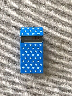 Superking Size Silicone Cigarette Case Blue And White Stars Uk Seller
