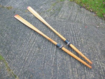 💛a Pair Of Traditional Rowing Oars 10 Ft Long Nearly New Condition