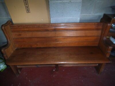 Original pine church pew