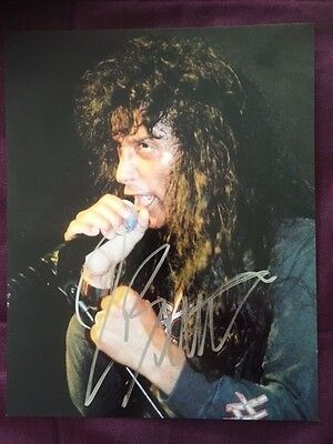Joey Belladonna Anthrax Autographed Signed Colour Photo IP
