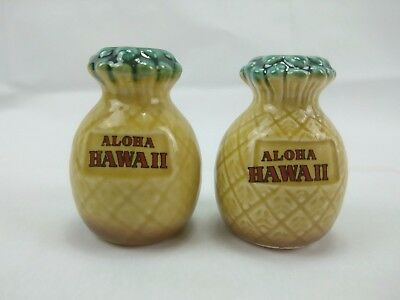 Vintage Salt and Pepper Shakers Pineapples Aloha Hawaii Kitsch Retro 1950s 1960s