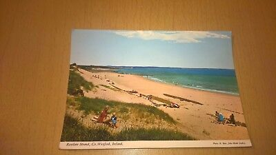 OLD IRISH POSTCARD - ROSSLARE STRAND No 2 - CO WEXFORD IRELAND