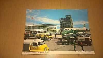 Old Irish Postcard - Terminal Building Cork Airport - Co Cork Ireland