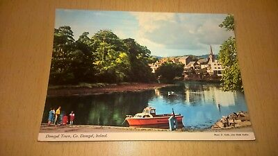 Old Irish Postcard - Donegal Town - Co Donegal Ireland