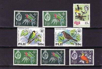 FIJI , group of Bird issues , values to 4/- & 5/- Mint hinged