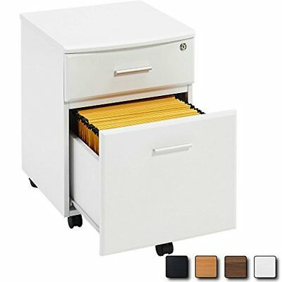 WHITE Filing Cabinet Pedestal Drawer Stationary Office Desk Storage PC Lockable