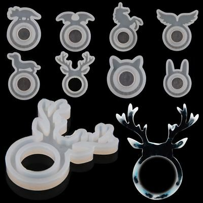 Silicone Cute Ring Mold Resin Casting Jewelry Rings Making Mould Hand Craft DIY