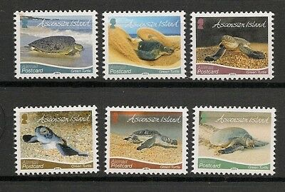 Ascension 2015 Wildlife Fauna Animals Tiere Dieren Reptile Green Turtle set MNH