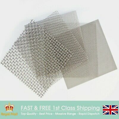 STAINLESS STEEL WOVEN WIRE FILTER MESH - Lab Grading Mesh - 150mm Square