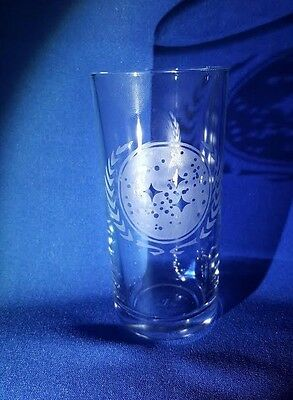 STAR TREK FEDERATION OF PLANETS BADGE Etched On A Half Pint Glass
