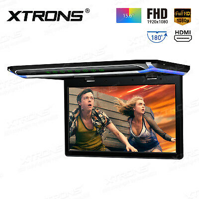 """Ultra-thin 15.6"""" TFT Car Roof Mounted Monitor 1080P Overhead Flip Down Ceiling"""