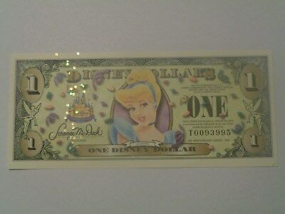 2005 $1Disney Dollar featuring Cinderella T Series  NEW
