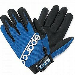 Sparco Meca-2 Work Gloves (Colour: Blue,  Size: Large)