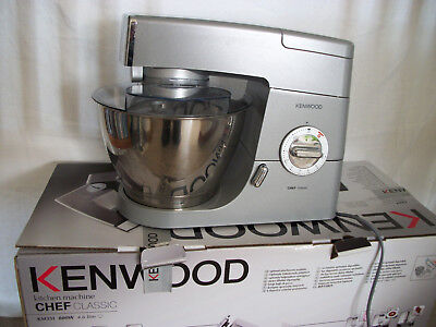 Slightly used KM331 Kenwood Chef Classic 800w 4.6 litre Silver Kitchen Mixer