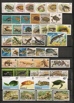 Collection World Wildlife Fauna Animals Tiere Dieren Reptiles 18 compl. sets MH