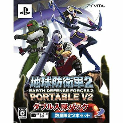 New PS Vita Earth Defense Force 2 PORTABLE V2 Limited Import Japan
