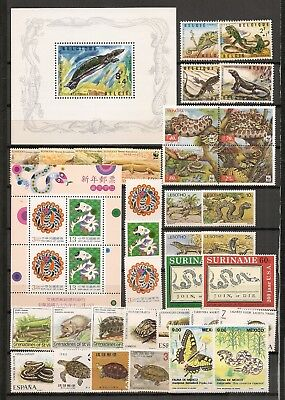 Collection World Wildlife Fauna Animals Tiere Dieren Reptiles 20 compl. sets MNH