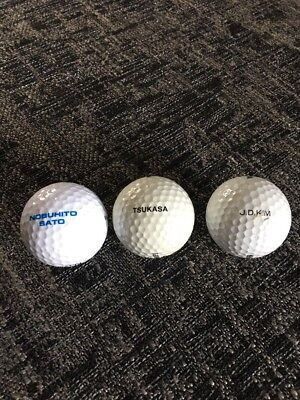 Golf Ball Collection Jd Kim, Sato And Tsukasa Vintage