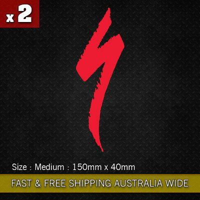2 x Large Specialized S Logo vinyl sticker decal 150mm  Bicycle Moutain Bike