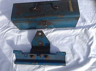 ford tractor original toolbox and fixing bracket