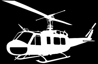 IROQUOIS UH-1H  'HUEY' - Helicopter Adhesive Vinyl Decal - Last up to 6 years
