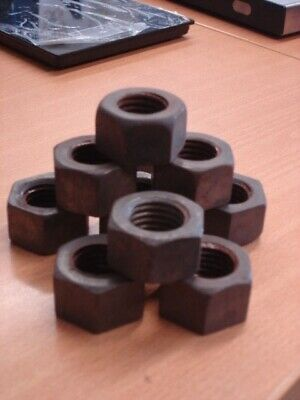 "1"" UNC nuts - pack of 10."