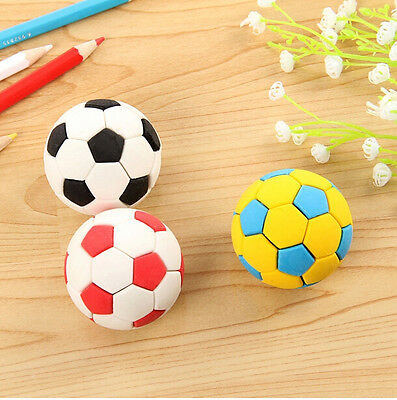 Novelty 3Pcs Football Eraser Rubber, Back to School Stationery, Gift Pack